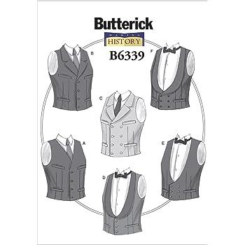 Butterick Muster 6339 XM Herren Kostüme Schnittmuster, Größen klein ...