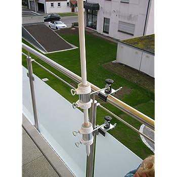 schirm st cke von 25 5 bis 52 mm 2 stck balkonschirmhalter bis 40 mm gross. Black Bedroom Furniture Sets. Home Design Ideas