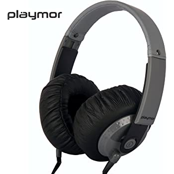 PLAYMOR Wired Stereo Black Adjustable Gaming Headphone, Compatible with all smartphones