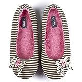 soxo Pantofole Donna | Ballerina | Grigio o Rosa | Perfetto per la Primavera e L'Estate
