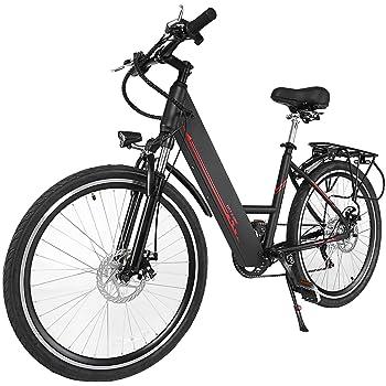 cooshional Bicicleta de Montaña Eléctrica con Pantalla del Manillar
