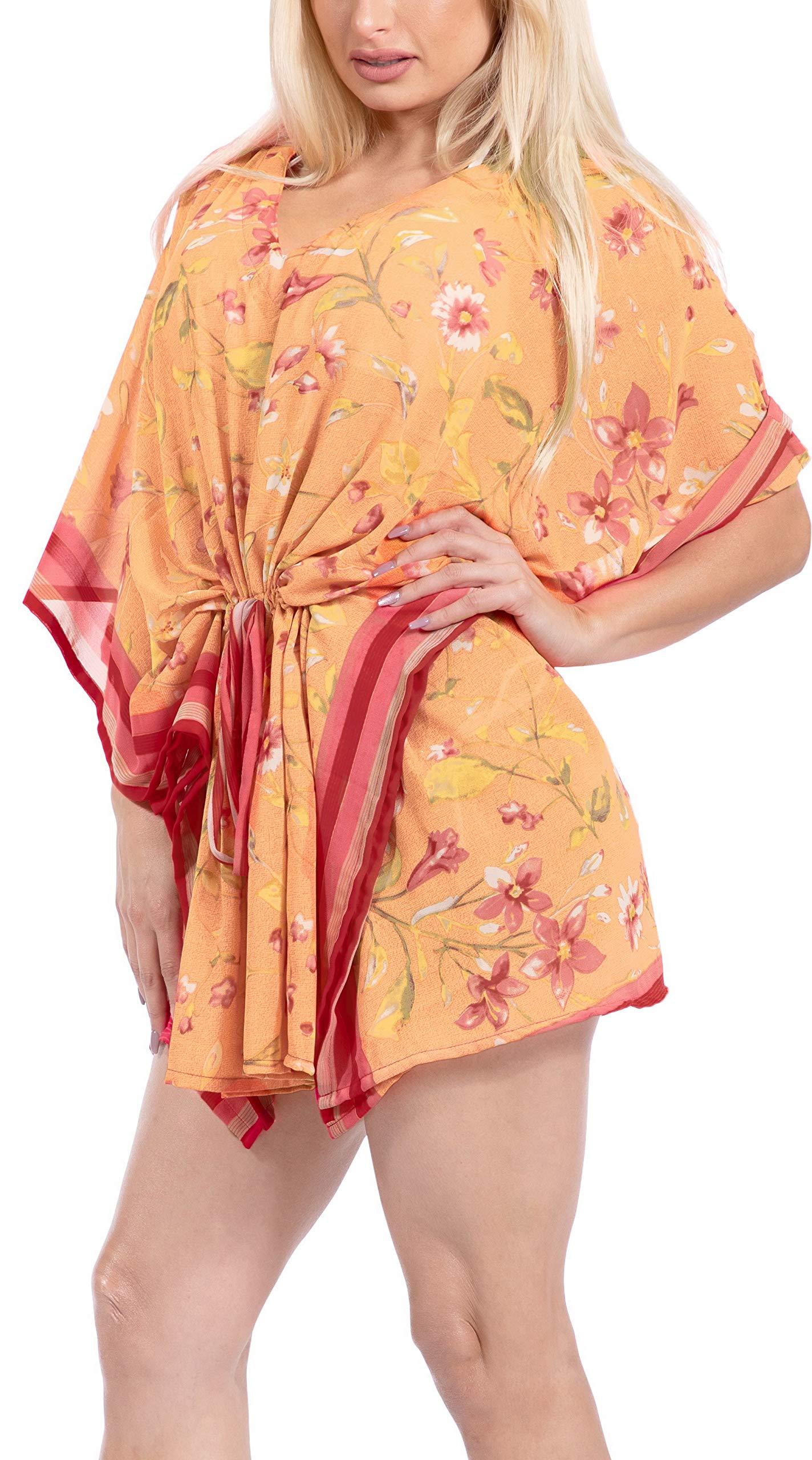 LA LEELA Abito Kimono Abbigliamento Casual Kaftano Top Costume da Bagno Cover up Spiaggia Estiva per Le Donne 3 spesavip