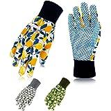 Hortem 3 Pairs Ladies Gardening Gloves Medium, Women Garden Gloves, Non-Slip Grip Garden Gloves for Yard, Cleaning, Fishing w