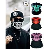 CAIFU Multifunctional Headwear Fashion Bandana, Stretchable Tubular Skull Face Mask, Motorcycle Biker Snowboards Half…