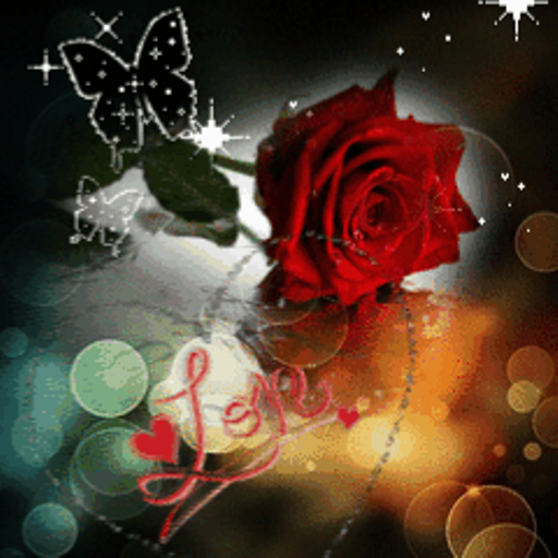Red rose butterfly live wallpaper amazon appstore for android voltagebd Gallery