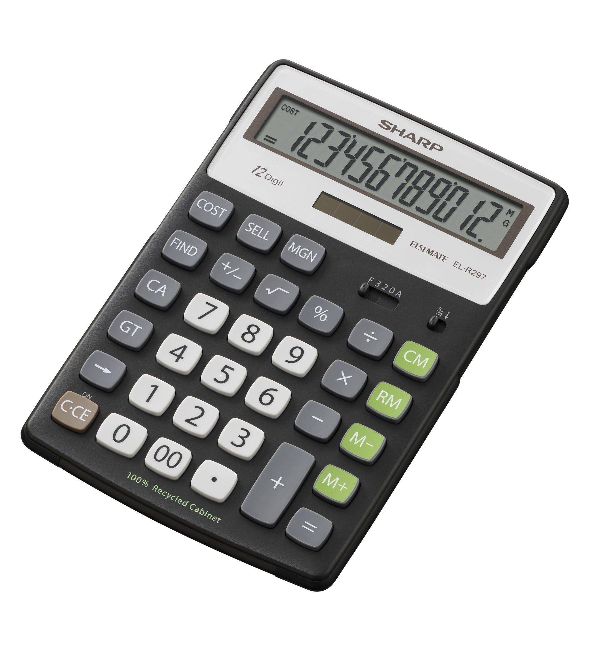 Sharp EL-R297BBK calcolatrice