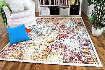 wohnzimmer designer gabbeh teppich vintage orient bunt türkis ... - Wohnzimmer Orange Rot