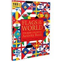 Flags of the World - Sticker Coloring Activity Book For Children : Continent, Country, Capital, Language and Currency