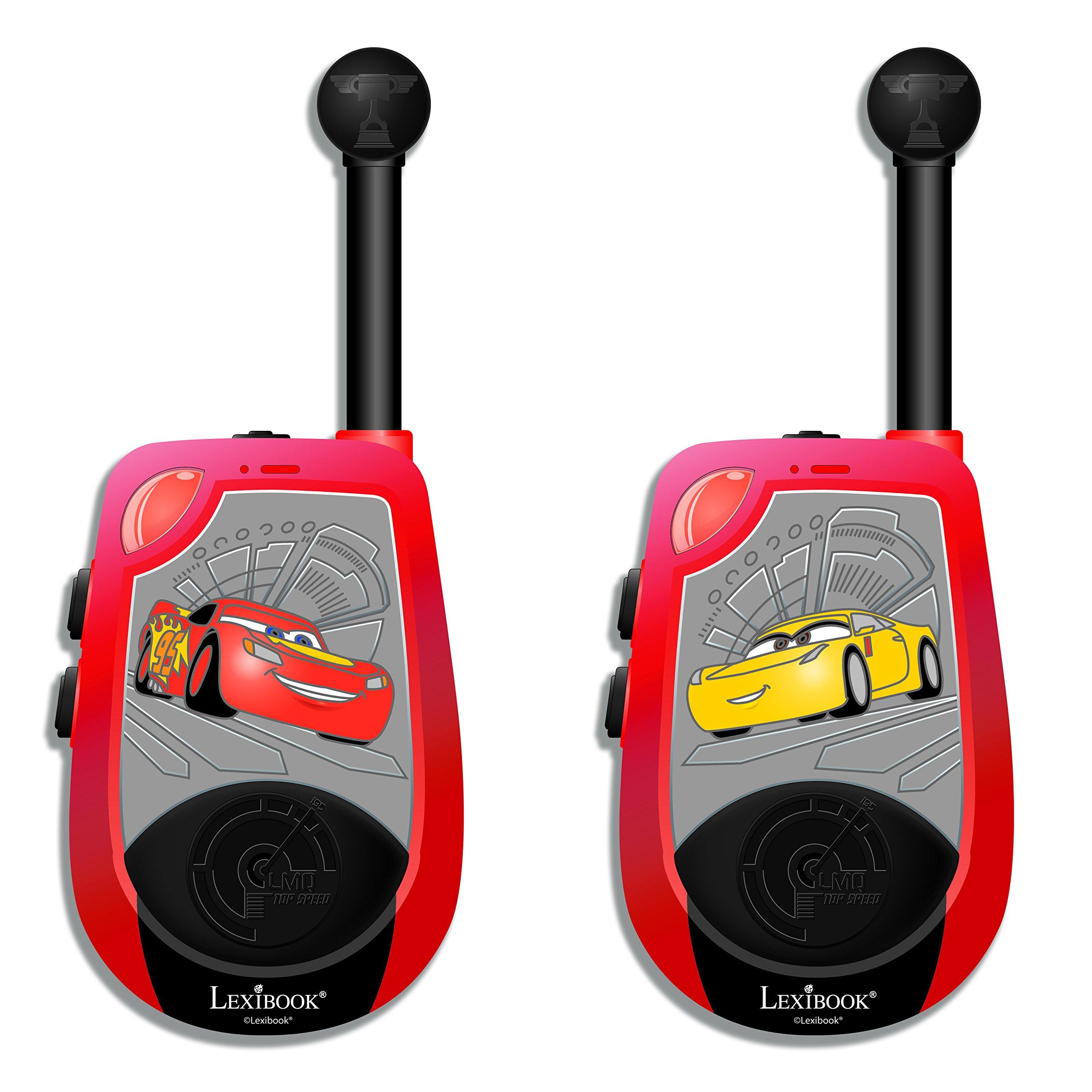 Cars Tw25Dc Disney, Par De Walkie Talkies 3D, Rango de transmisión 2 km, a Partir de 3 años (Lexibook