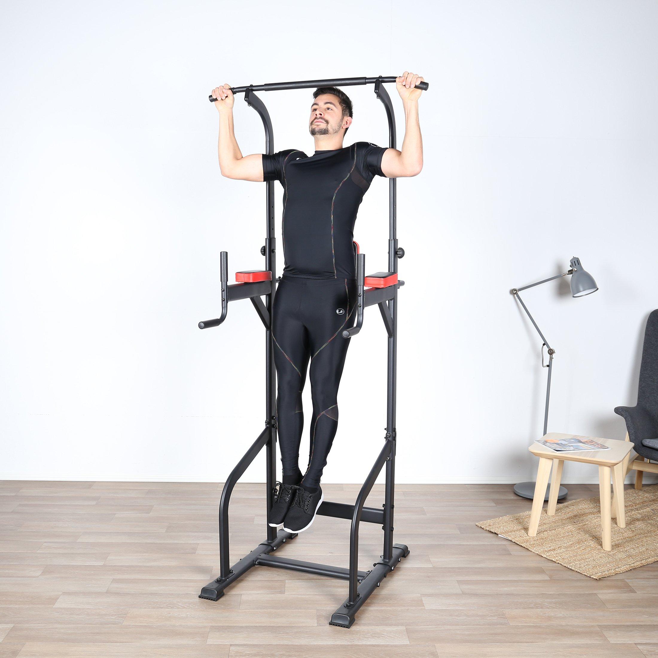 Power Tower Kraftturm Gymtower Heimtrainer Klimmzugstange Muskeltrainer Pull-ups