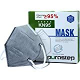 Purastep Reusable KN95 (Equivalent to N95, FFP2) Washable Five Layers Face Mask, CE certified, Pack of 10