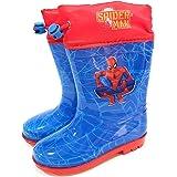 Botas Agua Spiderman Marvel para Niños - Botas Agua Marvel con Suela Antideslizante y Cierre Ajustable