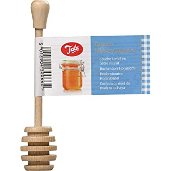 UK seller Made by high quality birchwood Wooden Honey Dipper Drizzler Spoon