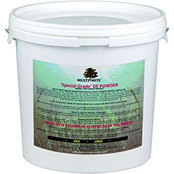 Multi-Mite® 6kg Bucket Feed Grade DE DIATOMACEOUS EARTH - Red Mite, Worming Supplement Powder