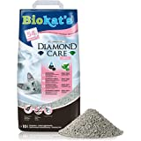 Biokat's Diamond Care Fresh z zapachem – delikatny żwirek dla kotów z węglem aktywnym i aloesem – 1 worek (1 x 10 l)