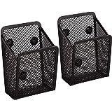 AIEX Porte Stylo Magnétique 2 pièces - Paniers de Rangement en Maille Avec Aimanté Forts Pour Rangement Frigo, Organisateur d