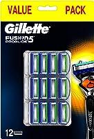 Gillette Fusion ProGlide Lamette di Ricambio per Rasoio, 12 Lamette per Rifinire le Aree Difficili, Dotato di Striscia...