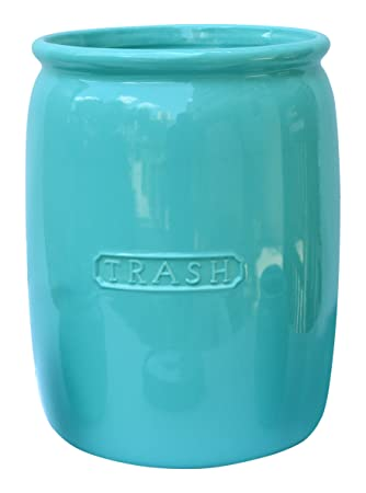 bathroom wastebasket. BathSense MJ1002T Ceramic Bathroom Wastebasket  Trash Can Refuse Disposal Bin Vintage