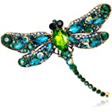 Yonghui - Spilla smaltata con strass e libellula, da donna, con ciondolo a forma di farfalla, accessorio per gioielli