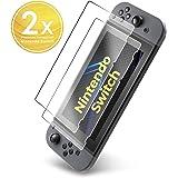 UTECTION 2x Panzerglas Folie für Nintendo Switch - Schutzfolie aus Glas gegen Displayschäden - Passgenaue Panzerglasfolie Anti Kratzer - Displayschutzfolie Schutzglas Clear Durchsichtig
