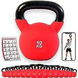 POWRX Kettlebell ghisa 4-30 kg - Rivestimento in Neoprene + PDF Workout