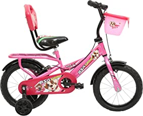 BSA Champ Woof 14T Single Speed Steel Cycle (Barbie Pink) 9inch Frame