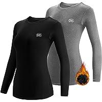 MEETWEE Maglia Termica Donna, Maglia a Manica Lunga Compression Maglietta Biancheria Intima Sport T-Shirt Baselayer da…