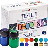 Pintura textil acrílica de alta calidad–a elegir:6 o 12 colores cada 20 ml - colores de tela lavables - Nevskaya Palitra (j