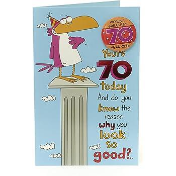 70th Birthday Card Funny
