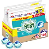 Fairy Non-Bio Pods, Washing Liquid Laundry Detergent Tablets/Capsules, 108 Washes (54 x 2)