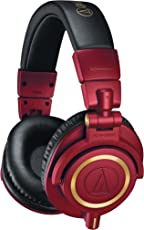 Audio-Technica ATH-M50xRD Professional Monitor Headphones, Red, Limited Edition