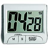 TFA Dostmann digital timer och stoppur, tidtagarur, 38.2021.02, med memoryfunktion, vit, äggklocka, korttidsmätare