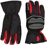 Black Crevice Skihandschuhe für Damen und Herren, schwarz/rot, M/8
