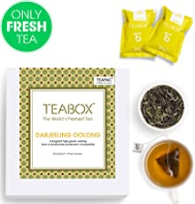 Teabox Darjeeling Oolong Tea, 44 Teabags (4 Free Exotic Samples Included) |100% Natural Darjeeling CTM Oolong Tea | Whole Leaf Weight Loss Oolong Tea | Sealed-at-Source Freshness from India