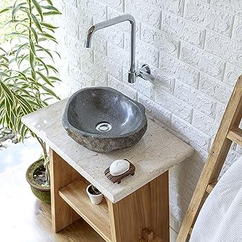Waschbecken rund gäste wc  Amazon.de: Wohnfreuden Naturstein - Waschbecken rund oval 30 cm ...