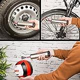 AGT Professional Akku Fahrradpumpe: Akku-Kompressor-Luftpumpe für Reifen, Bälle u.v.m, LCD, bis 150 psi (Akku Luftpumpe Autoreifen)
