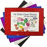 Digital A4 Glitter Foam Sheets, Pack of 5, Multicolor