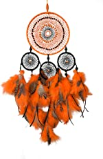 Daedal dream catchers - Dream Catcher (Dimensions 45cm L X 25cm W X 2cm D) Hand Made Hand Crafted Wind Chime Home Decor Wall Hanging DDC124