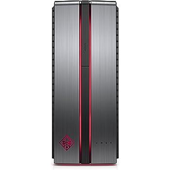 HP OMEN 870-200NL Desktop per PC, Processore Intel Core i7-7700K, 4.2 GHz, 16 GB di RAM, HDD da 1000 GB, SDD da 128 GB, Scheda Grafica nVidia GeForce GTX 1060, Argento/Nero