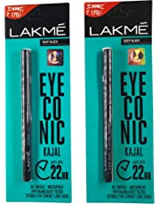 RV BROTHERS-Lakme Eyeconic Kajal Twin Pack, Black, 0.35g with 0.35g
