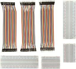 Jumper Wire Mit Breadboard - ALLEU BJ-021 2pcs 400 Pin plus 2pcs 830 Pin Breadboard UND 40x20 Female-Female, Male-Male, Female-Male Jumper Kabel Steckbrücken für Arduino Raspberry Pi