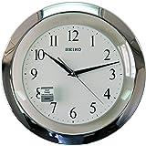 سيكو ساعة حائط بيضاء قطرها 28 سم QXA635SL