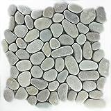 Flusskiesel Naturstein Mosaik Micro Fliesen Braun
