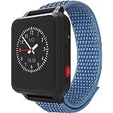 ANIO 5 (blau) - 1.3 Zoll Touch-Farbdisplay, Telefon Uhr für Kinder - Anrufe, Nachrichten, Schulmodus, SOS Funktion, GPS, Schr