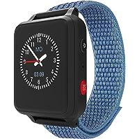 ANIO 5 (blau) - 1.3 Zoll Touch-Farbdisplay - IP67 wasserdichte Telefon Uhr für Kinder - Anrufe, Nachrichten, Schulmodus…
