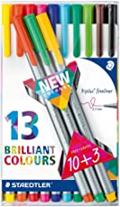 Staedtler Triplus Fineliner Pack Of (10+3) Shades