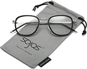 SojoS Square Clear Lens Eyewear Prescription Eyeglasses Frames for Men and Women SJ5017