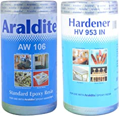 Araldite Standard Resin Epoxy Adhesive & Hardener, Pack of 2 (17.78 cms X 10.16 cms X 0.51 cms, NA)
