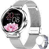 ieverda Smartwatch Orologio Fitness Uomo Donna Impermeabile IP68 Smart Watch Cardiofrequenzimetro da Polso Contapassi Smartba