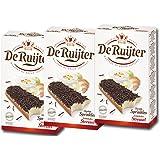 De Ruijter Chocoladehagel Puur - 3 confezioni di codette per dolci al cioccolato fondente, 400 g